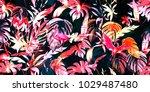 wide vintage seamless... | Shutterstock .eps vector #1029487480