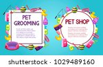 pet shop sale square and round... | Shutterstock .eps vector #1029489160