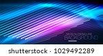 neon blue vector smooth wave... | Shutterstock .eps vector #1029492289