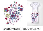 embroidery colorful trend... | Shutterstock .eps vector #1029492376