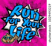 "pop art comics icon ""run for... | Shutterstock .eps vector #1029493219"