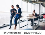 professional office workers... | Shutterstock . vector #1029494620