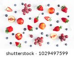 fruit pattern. fresh fruits... | Shutterstock . vector #1029497599