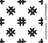 seamless pattern with hashtag... | Shutterstock .eps vector #1029500860