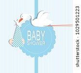 baby shower card design | Shutterstock .eps vector #1029501223