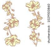 blooming retro apple tree...   Shutterstock .eps vector #1029503860
