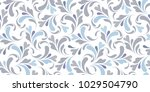 floral seamless pattern. plant... | Shutterstock .eps vector #1029504790