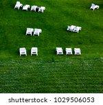 sunbeds on the grass   Shutterstock . vector #1029506053