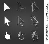 hand and arrow cursor icon.... | Shutterstock .eps vector #1029506659