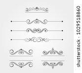 set of elegant watermarks ... | Shutterstock .eps vector #1029518860