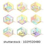 vector big set of isometric... | Shutterstock .eps vector #1029520480
