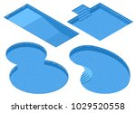 isometric set different forms... | Shutterstock .eps vector #1029520558