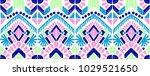 ikat geometric folklore... | Shutterstock .eps vector #1029521650