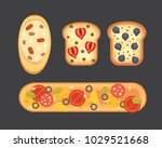 set toasts and sandwich... | Shutterstock . vector #1029521668