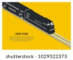 double decker passenger train... | Shutterstock .eps vector #1029522373