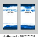 set of vector business card... | Shutterstock .eps vector #1029523750
