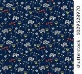cute floral pattern. seamless... | Shutterstock .eps vector #1029528970
