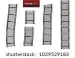 set of vector film strip... | Shutterstock .eps vector #1029529183
