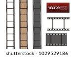 set of vector film strip... | Shutterstock .eps vector #1029529186