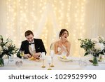 banquet in the hall decorated... | Shutterstock . vector #1029529990