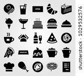 restaurant vector icon set....   Shutterstock .eps vector #1029532576