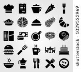 restaurant vector icon set.... | Shutterstock .eps vector #1029532969