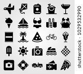 summertime vector icon set.... | Shutterstock .eps vector #1029532990