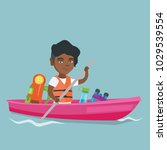 young african american traveler ...   Shutterstock .eps vector #1029539554