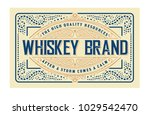 old whiskey label and vintage... | Shutterstock .eps vector #1029542470