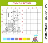 copy the picture train using... | Shutterstock .eps vector #1029543199