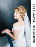 young beautiful bride with a...   Shutterstock . vector #1029545584