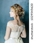 young beautiful bride with a...   Shutterstock . vector #1029545620