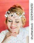 young beautiful bride with a...   Shutterstock . vector #1029545650