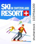 Vector Illustration Ski Resort...