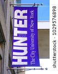 Small photo of NEW YORK CITY, NY -18 FEB 2018- Exterior view of Hunter College, a constituent college of the City University of New York, located in the Lenox Hill neighborhood of the Upper East Side of Manhattan.