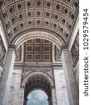 detail of the arc de triomphe... | Shutterstock . vector #1029579454