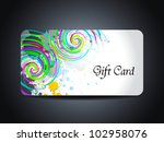 abstract beautiful gift card... | Shutterstock .eps vector #102958076