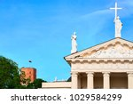 detail of cathedral in the old... | Shutterstock . vector #1029584299