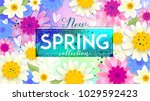 new spring collection sale... | Shutterstock .eps vector #1029592423