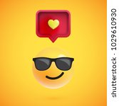 funny 3d emoticon with 3d... | Shutterstock .eps vector #1029610930