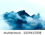 smoking black mountains ... | Shutterstock . vector #1029612508