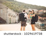 young freelancing photographers ... | Shutterstock . vector #1029619738