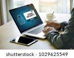 cyber security business ... | Shutterstock . vector #1029625549