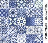 big set of tiles background.... | Shutterstock . vector #1029626989