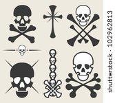 set of skulls   Shutterstock .eps vector #102962813