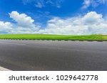asphalt pavements and prairies...   Shutterstock . vector #1029642778