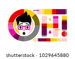 young surprised and shocked... | Shutterstock .eps vector #1029645880