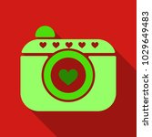 camera icon with heart in...   Shutterstock .eps vector #1029649483