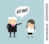 angry boss firing employee.... | Shutterstock .eps vector #1029655204