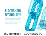 block chain. crypto currency.... | Shutterstock .eps vector #1029660370
